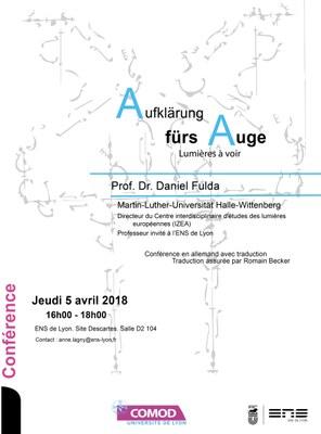 Affiche conférence Prof. Dr. Daniel Fulda