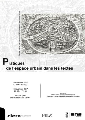 Affiche colloque pratiques de l'espace urbain